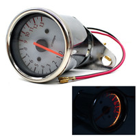 Wholesale Motorcycle tachometer pointer instrument modified inductance white instrument modified electronic tachometer V