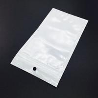 Precio de Bolsas de plástico para alimentos-Clear White Pearl plástico Poly Bolsas OPP cremallera Lock empaquetado al por menor de alimentos joyería bolsa de plástico PVC para la caja del teléfono celular Samsung