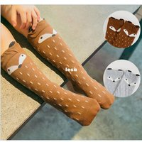 Wholesale New Arrive Kids Fox Socks Leg Warmers children Knee High fox socks Cartoon Brand Designer socks Baby Girl Children Kawaii Sock fox unisex