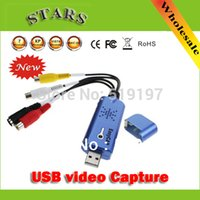 Wholesale USB Video Capture With Audio DC60 STK1160 TV DVD VHS to USB Converter Capture Grabber Adapter for Window