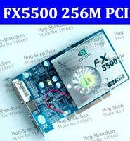 Wholesale HK POST NEW nVIDIA GeForce FX5500 MB bit DDR VGA DVI PCI Video Card graphic card