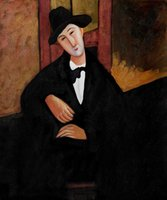 Oil Painting amedeo modigliani - Modern Art Man painting Portrait of Mario Varvogli by Amedeo Modigliani oil painting Canvas reproduction High quality Hand painted