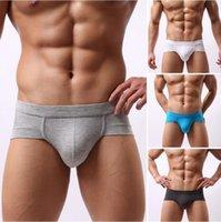 Wholesale 2016 New Sexy Boy Man U Convex Pouch Shorts Men s Male Modal Comfortable Briefs men Underwear Panties men Underpants Plus Size