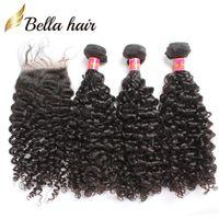 Cheap Brazilian Hair hair closure with bundle hair Best Curly Under $50 virgin brazilian hair
