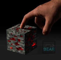Wholesale Minecraft Creeper Touch LED Lights Diamond Ore Night Lighting Square Brick Red Blue Stone Light Night Lamp with Box Package