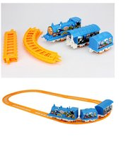 battery operated train set - Small electric rail train toys Train Railway Train Play Set battery operated Toys Gifts free DHL