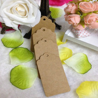 Wholesale Brand new X Brown Kraft Paper Tags Lace Scallop Head Label Lage Wedding Note in stock