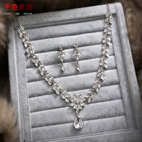 ac necklace - 2016 the new bride xiao smoke Korean brides act the role ofing is tasted suit pendants diamond wedding necklaces earrings jewelry wedding ac
