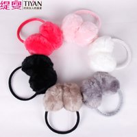 ear covers - New Super Warm Winter Fur Earmuffs Female Korean Cute Plush Rabbit Ear Cover Women Ear Package