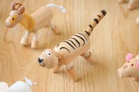 Wholesale New Anamalz Maple Wood Moveable Animals Toy Farm Animal Wooden Zoo Baby Educational Toys cm