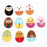 Wholesale Mixed Cute Pretty Easter Egg Wood or Wooden Button With Cartoon Painted mm Button Embellishment with Holes
