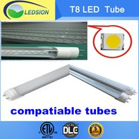 Wholesale 6 six Carton free sent Catron DLC ETL m W T8 compatiable Led Tube Warranty years Stock in L A