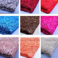 soluble fabric - Charming Lace Tops High Quality Color Water Soluble D African Lace Venice Lace Fabrics Wedding Dress Fabrics