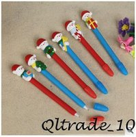 Wholesale 800pcs CCA1981 New Cute Christmas Snowman Santa Claus Style Ballpoint Pens Office and School Pen for Kids Children Students and Office Pen