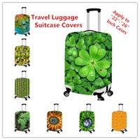 apply protective covers - Hot Sale New D Plant Print Travel Luggage Suitcase Covers Apply to Inch Cases Waterproof Luggage Protective Covers Free