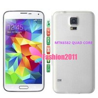 Wholesale MTK6582 S5 Quad Core I9600 Inch Phone Real GB GB Android WiFi Single SIM WCDMA G Unlocked Mobile phone