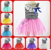 Girl baby girl pajamas clearance - CLEARANCE LAST OFF baby girl kids lace dress flower floral tutu dress strap halter vest stripe dress cotton pajamas PJ S