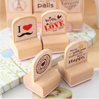 Wholesale DIY Wooden Vintage Design Stamp Set for Diary Decoration Photo Album Scrapbooking Love Happy Beard Stamps set