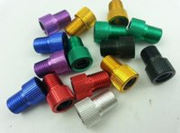 Wholesale Multi Color Aluminum alloy Converter Presta to Schrader Bicycle Bike Valve Adaptor Tube Pump Tools Air Compressor Adapter Tools
