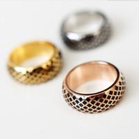 Joyería de la manera El alto pendiente titanium sólido del anillo del anillo del anillo del anillo del anillo 316L de los hombres de la joyería de la manera para los hombres Joyería de los hombres