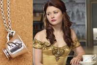 bella necklace - 2015 fashion jewelry Once Upon A Time Rumbelle Bella Clip Tea Cup pendant chain Necklace great Keepsake gift for fans