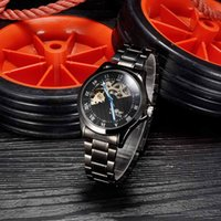 automatic watch storage - WINNER Analog Men Wristwatch See through Skeleton Self winding Automatic Mechanical Watch Stainless steel Watchband with Storage Case J0415