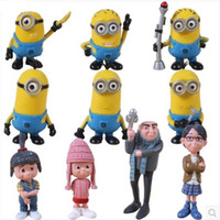Wholesale Anime Cartoon Despicable Me Figures D Eye Minions PVC Action Figure Toys Approx cm Dolls set DHL sets