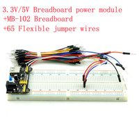 Wholesale Quality V V Breadboard Power Module MB Breadboard Flexible Jumper Wires for Arduino for Raspberry pi