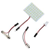 Чтение панели Цены-5PCS 4W 3 Адаптеры 48 SMD 3528 Светодиодная панель для чтения Чистый белый интерьер автомобиля плафон CLT_061