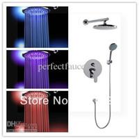 bathrom set - inch mm bronze brass light shower led head whole shower set together good cheap price for promotion bathrom tools transpar