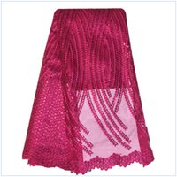 african lace fabric products - Hot new products silver african french lace fabric high quality african embroidered tulle lace fabric with sequin f15112518