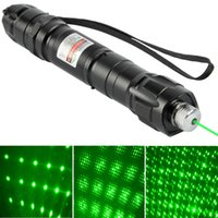 Wholesale New Super Laser Pointer nm M Green Laser Star Cap with Battery Charger T1576 W0