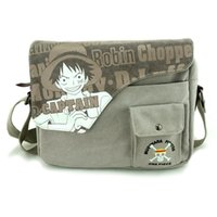 bag cartoon image - New Anime Cartoon image ONE PIECE Monkey D Luffy Skull Heads pattern washing canvas retro Shoulder bags Messenger Bags gifts