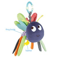 bee teether - Baby Soft Bee Plush Toy Teether Colorful Stroller Crib Bed Hanging Ring Bell Baby Rattle Educational Doll brinquedos juguetes
