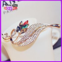 Wholesale 2015 New Crystal Brooches Lovely For Female Retro Fashion Women c Jewelry For Christmas Gift H054 B10
