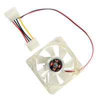 Wholesale New Sale Computer Components cm Heatsink Chassis Fan With LED Light Lamp Cooling Cooler Multicolor