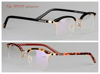 Wholesale 2016 new fashion Tom TF personality Vintage plate half frame glasses pectacles Tom tf5373 eyebrow myopia