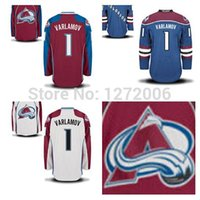 away jersey color - 2015 Colorado Avalanche Semyon Varlamov Jersey Burgundy Maroon Red Blue White Team Color Road Away All Stitched Ice Hockey Jerseys