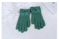 Wholesale Christmas gift Random delivery Beautiful Gloves Knitted Ms Down Gloves Warm Fashion Bestsellers