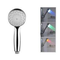Cheap UK LED Colour Changing Shower Head Bathroom Mixer Water Faucet Overhead Light Fast Shipping