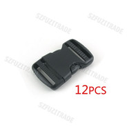 Wholesale 38mm Plastic Black Backpack Buckles Side Release Buckles Paracord Buckles with Double Slots AJA00046C
