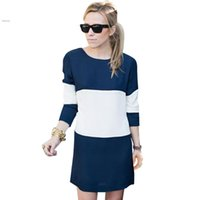 Long sleeve chiffon tunic dress