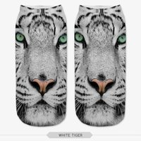 anklets socks - Harajuku Animal Tiger Lion Panda Wolf Monkey Leopard Print Socks d Digital Print Women Men Funny Anklet Socks