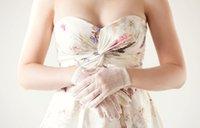 Wholesale In Stock White or ivory Brand New Tulle Finger Wrist Length Gloves Bridal Wedding Gloves