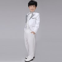 Wholesale Fashion Sequins Blazer Pieces Formal Suit Set Long Sleeve Tuxedo Children s Stage Performance Clothing wyb002