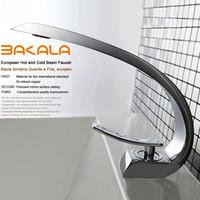 Cheap BAKALA modern washbasin design Bathroom faucet mixer waterfall Hot and Cold Water taps for basin of bathroom F6101-1