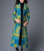 argyle pants - 2016 Coolest Original design fashion Suit collar Contrast Color long coat pant price winter coat women