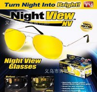 night view lens - Top hot sell UV400 TV HD Night View NV Glasses night vision Glasses prevent glare noctilucent driving Polarized sunglasses TV free ship