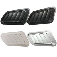 Wholesale 2015 New x Four Colors Car Decorative Intake Scoop Turbo Bonnet Vent Cover Hood for Fender