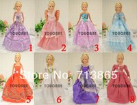 doll clothes hangers - items Clothes Shoes Hangers Mix Style Mix Color clothes evening dress For Barbie Doll